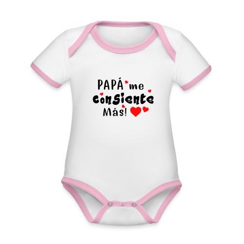 papa me consiente - Body contraste para bebé de tejido orgánico