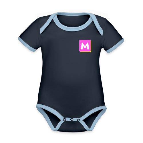 ByMINA logo - Kortærmet økologisk babybody i kontrastfarver