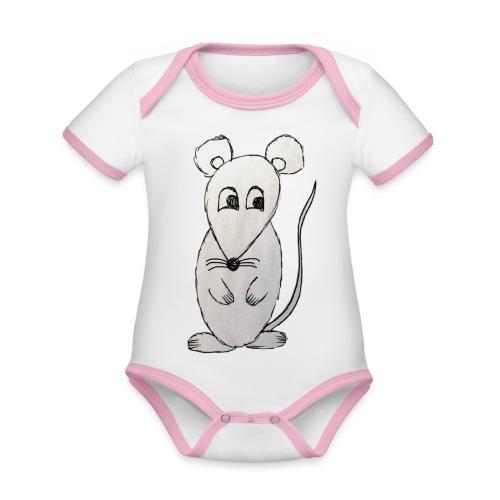 LackyMouse - Baby Bio-Kurzarm-Kontrastbody
