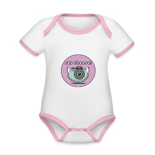 Foton The Monster Camera - Organic Baby Contrasting Bodysuit