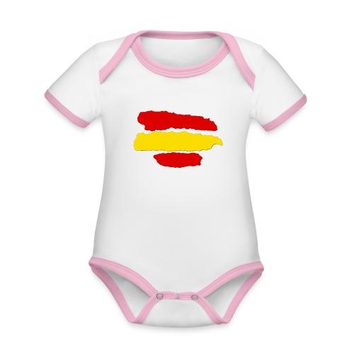 rayas de españa - Body contraste para bebé de tejido orgánico