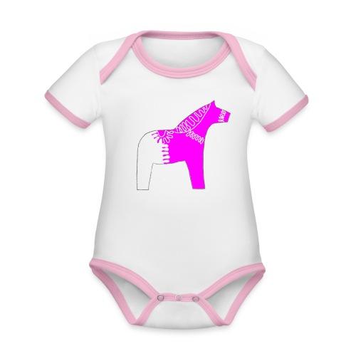 Dala by Pinni Art® pink - Baby Bio-Kurzarm-Kontrastbody