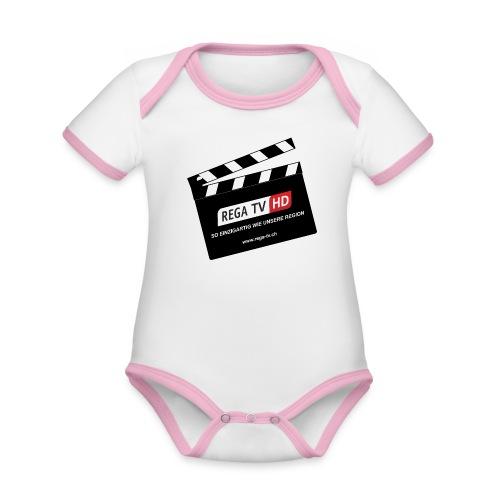 REGA-TV: Klappe - Baby Bio-Kurzarm-Kontrastbody