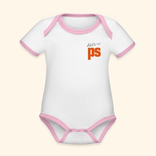 Aktiv mit PS - Baby Bio-Kurzarm-Kontrastbody