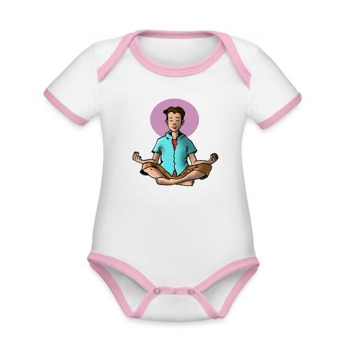 jeune om - Body Bébé bio contrasté manches courtes