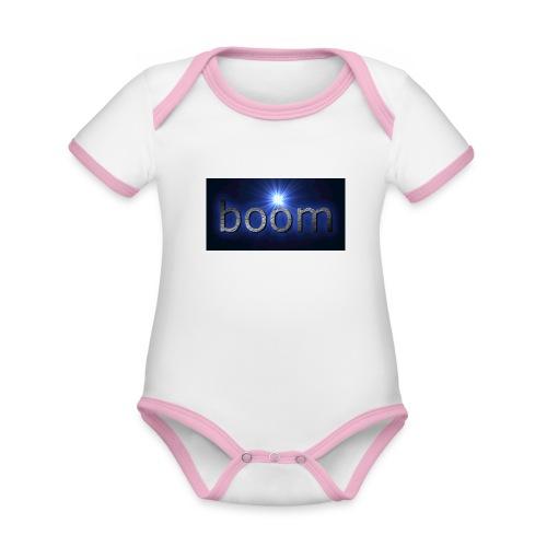 BOOOM - Ekologiczne body niemowlęce z krótkim rękawem i kontrastowymi lamówkami