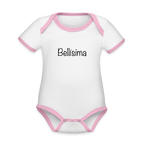camiseta bellisima niña - Body contraste para bebé de tejido orgánico