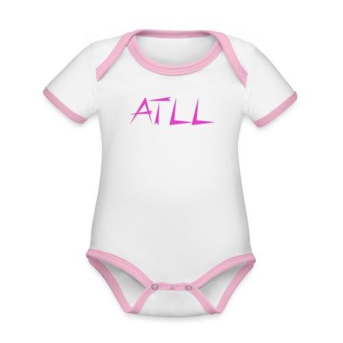ATLL logo - Kortærmet økologisk babybody i kontrastfarver
