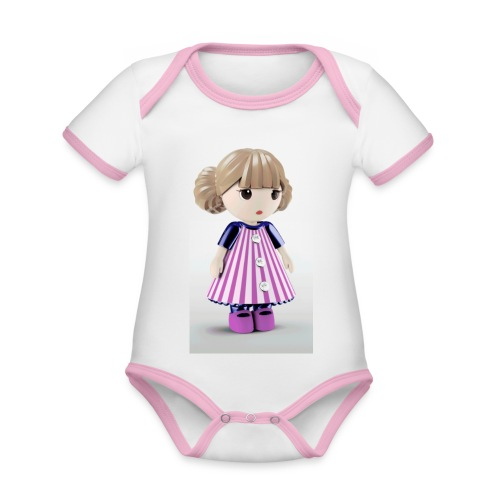 20181017 130532 - Body da neonato a manica corta, ecologico e in contrasto cromatico
