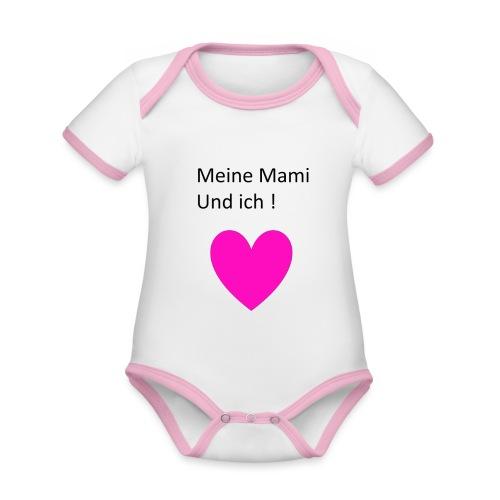 Meine Mami und ich - Baby Bio-Kurzarm-Kontrastbody