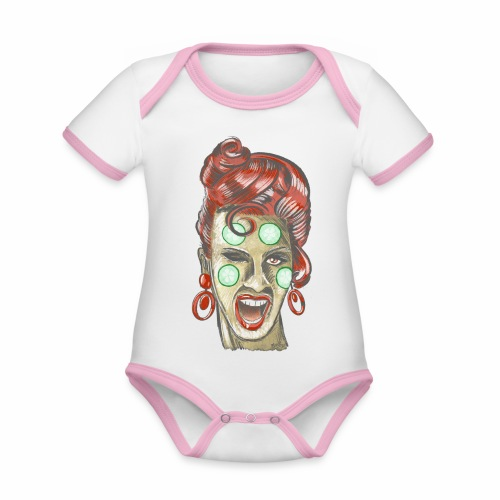 Ladies beautiful day, Textiles and Gifts FP44 01 - Vauvan kontrastivärinen, lyhythihainen luomu-body
