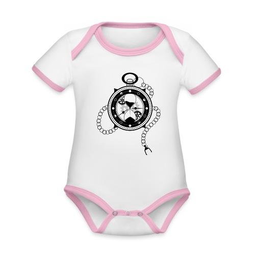 Le Temps - Body Bébé bio contrasté manches courtes