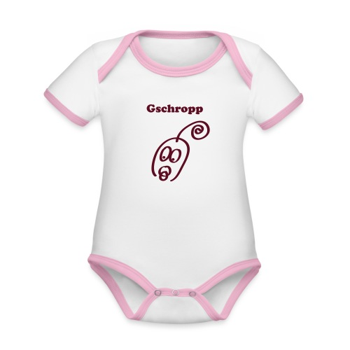 Gschropp - Baby Bio-Kurzarm-Kontrastbody