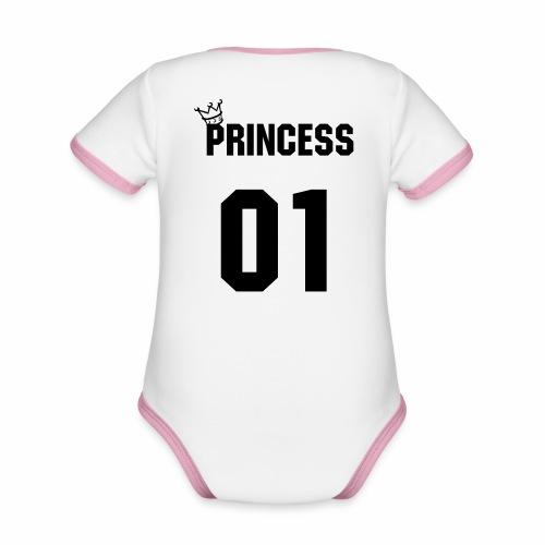 Princess - Baby Bio-Kurzarm-Kontrastbody