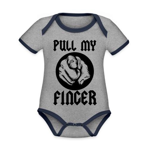 Pull My Finger - Organic Baby Contrasting Bodysuit