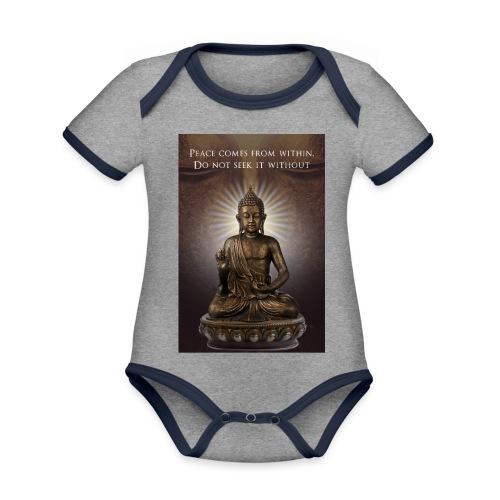 Peace from Within - Organic Baby Contrasting Bodysuit