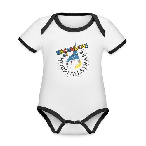 Kinder - helle Textilien - Baby Bio-Kurzarm-Kontrastbody