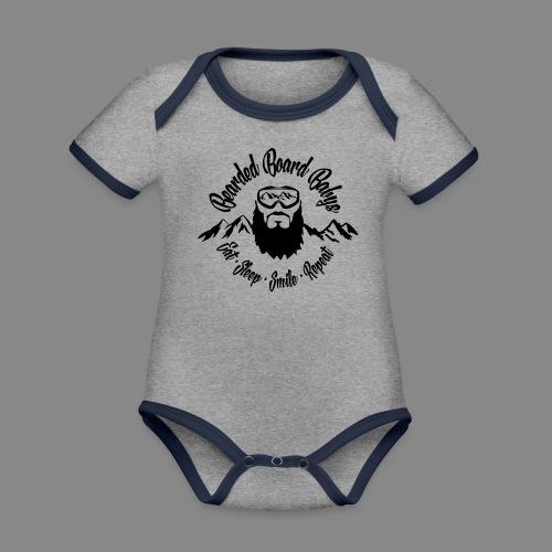 Bearded Board Baby M - Baby Bio-Kurzarm-Kontrastbody