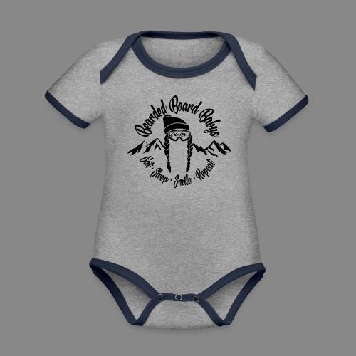 Bearded Board Baby W - Baby Bio-Kurzarm-Kontrastbody
