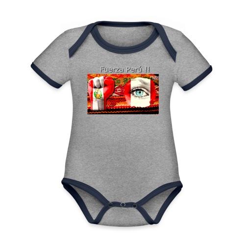 Telar Fuerza Peru I - Body contraste para bebé de tejido orgánico