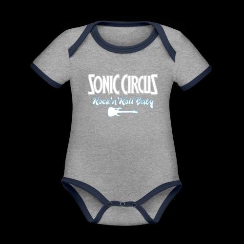 RnR Baby White - Baby Bio-Kurzarm-Kontrastbody