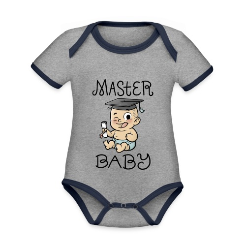 Master Baby - Baby Bio-Kurzarm-Kontrastbody