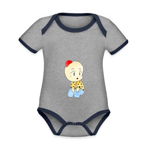 CLOWN RUNDO - Body da neonato a manica corta, ecologico e in contrasto cromatico
