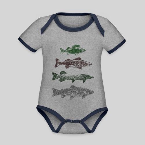 Lake - Vauvan kontrastivärinen, lyhythihainen luomu-body