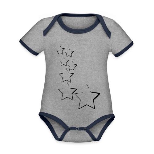 sterne - Baby Bio-Kurzarm-Kontrastbody