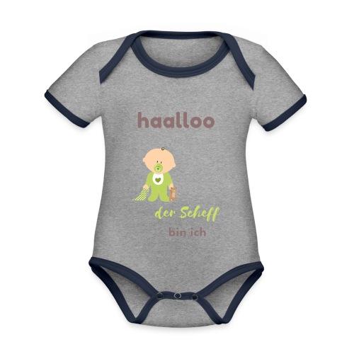 Der Scheff bin ich - Baby Bio-Kurzarm-Kontrastbody
