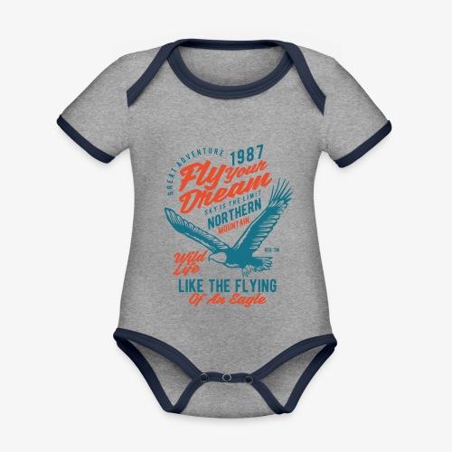 Stehlen Sie Ihren Traum - Baby Bio-Kurzarm-Kontrastbody