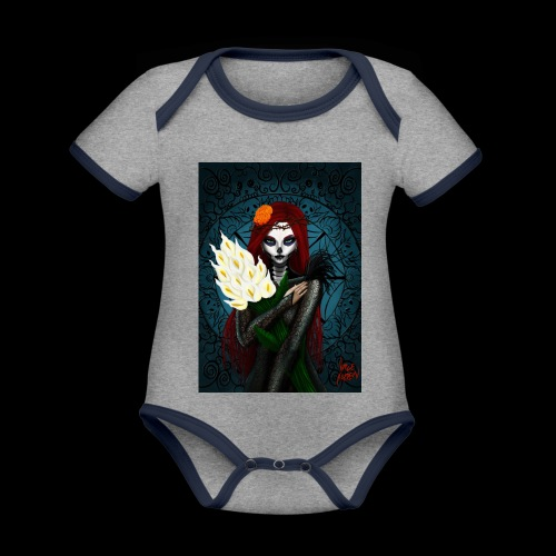 Death and lillies - Organic Baby Contrasting Bodysuit