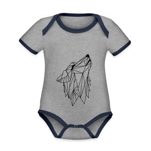 LUPO MOOD - Body da neonato a manica corta, ecologico e in contrasto cromatico