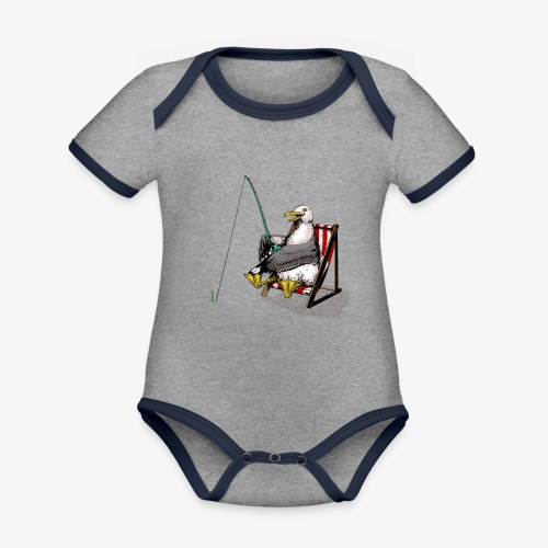 Seagull Fisher - Organic Baby Contrasting Bodysuit