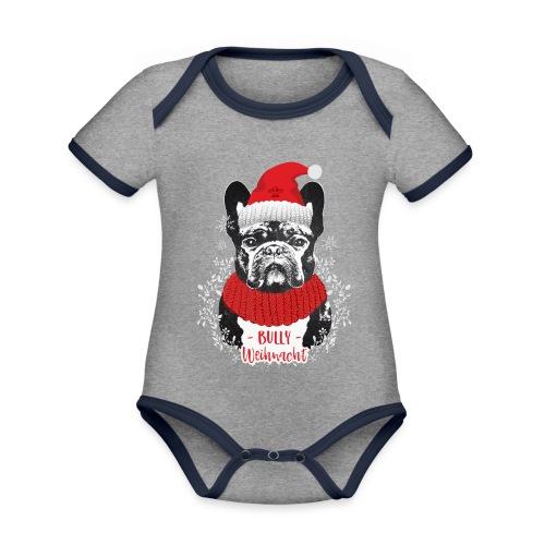 Bully Weihnacht Part 2 - Baby Bio-Kurzarm-Kontrastbody