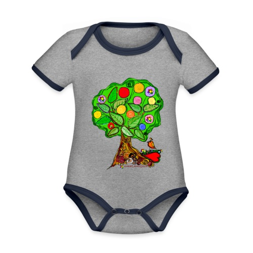 LebensBaum - Baby Bio-Kurzarm-Kontrastbody