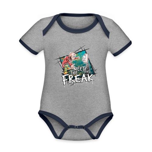 meet the freak - Baby Bio-Kurzarm-Kontrastbody
