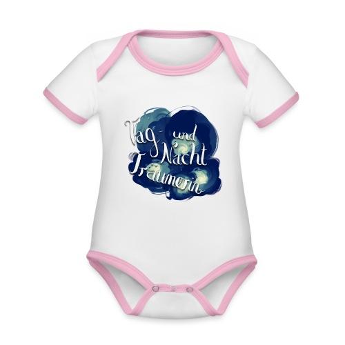 Tag- und Nachtträumerin - Baby Bio-Kurzarm-Kontrastbody