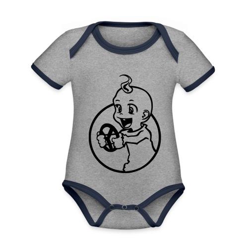 Der kleine Rennfahrer - Baby Bio-Kurzarm-Kontrastbody