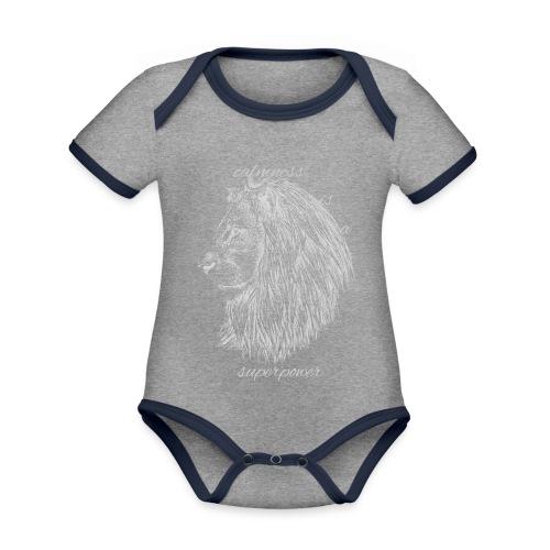 Calmness is a superpower - Body da neonato a manica corta, ecologico e in contrasto cromatico