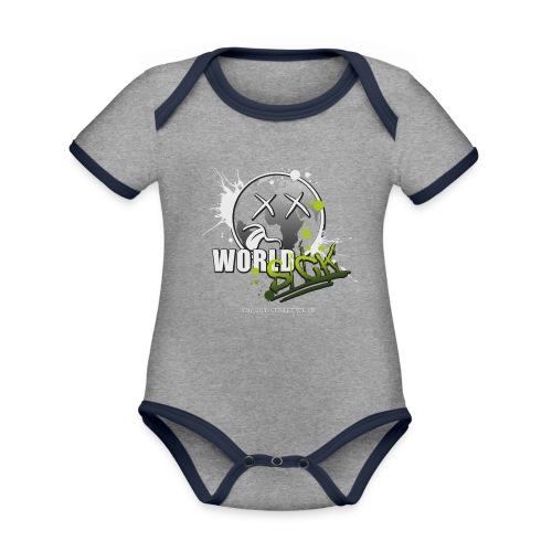 world sick - Baby Bio-Kurzarm-Kontrastbody