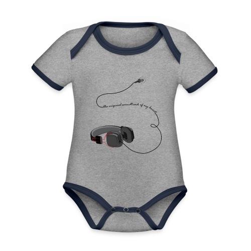 Tee shirt manches longues casque soundtrack - Body Bébé bio contrasté manches courtes