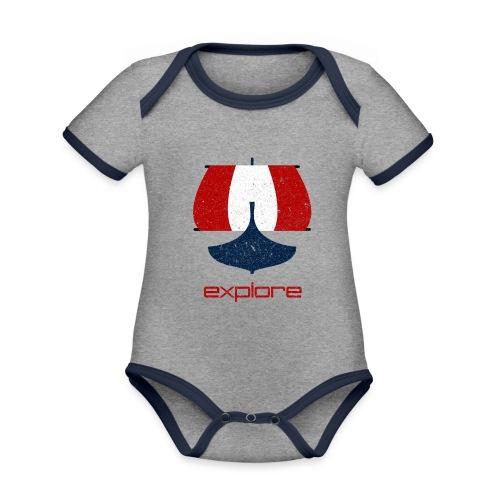 VHEH - Explore ship - Organic Baby Contrasting Bodysuit