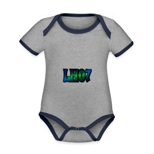 LH07 - Ekologisk kontrastfärgad kortärmad babybody