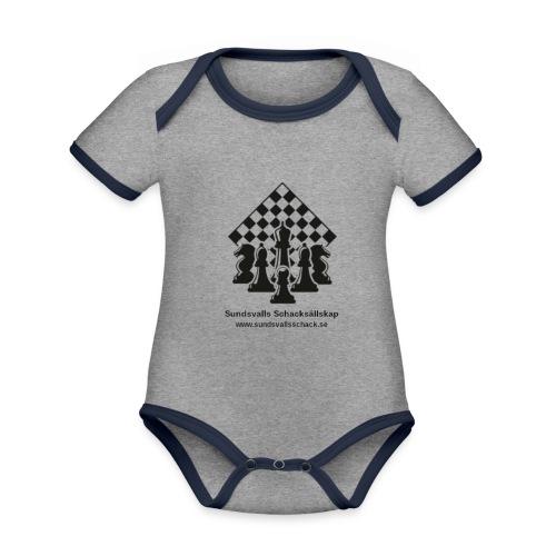 Sundsvalls Schacksällskap - Ekologisk kontrastfärgad kortärmad babybody