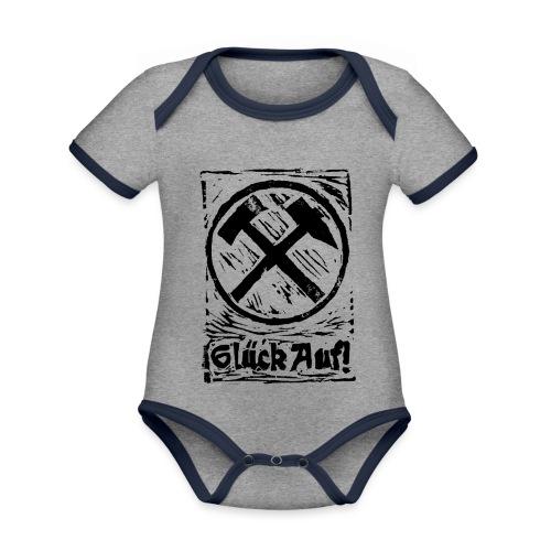 GlueckAuf - Baby Bio-Kurzarm-Kontrastbody