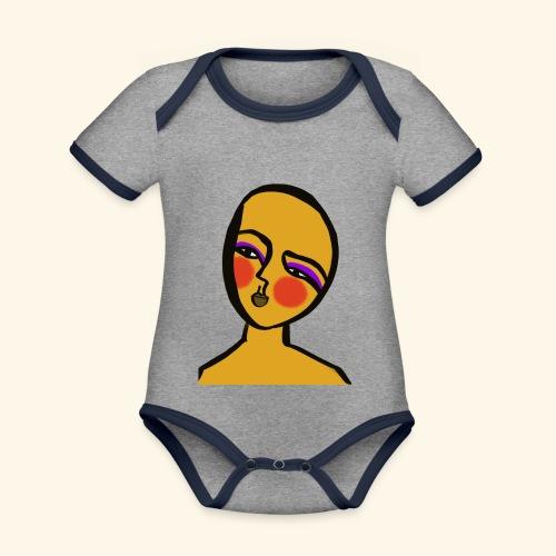 Hope - Ekologisk kontrastfärgad kortärmad babybody