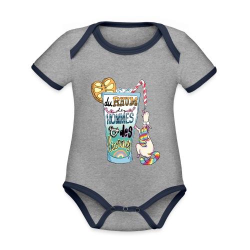 Du Rhum et des Licornes ! - Body Bébé bio contrasté manches courtes
