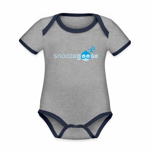 snoozegoose #01 - Baby Bio-Kurzarm-Kontrastbody