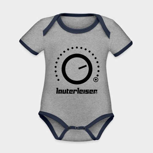 Lauterleiser ® - Baby Bio-Kurzarm-Kontrastbody